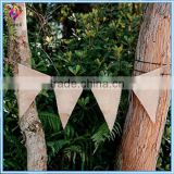 Plain Burlap Flag Banner Natural with Rope (12-pack)