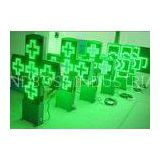 China RF/ Bluetooth controller P16 outdoor green pharmacy led signs cross