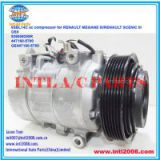 926008209R 447160-5790 GE447160-5790 denso 6SBL14C ac compressor for RENAULT MEGANE III/RENAULT SCENIC III 6pk