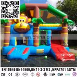 newest monkey jungle inflatable lovely jumping castle, bouncer outdoor bouncer for kids,bounce house