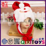 Custom made cute christmas hat decoration special animal shaped personalized christmas design plush hats