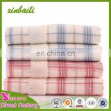 direct factory gaoyang towels double player 100% cotton face towels soft grid pillow towels 50*80cm 150g