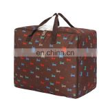 High Quality Waterproof Oxford Cloth Colorful Printing Pattern Storage Bag trolley bag