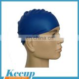 Personalized cheap round adult funny swimming cap with silicone material