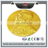 Free Design Die Cut Gold Enamel Custom 3D Human Logo Metal Challenge Coin for Souvenir Gift