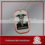 OEM Wholesale Ball Chain Type And Aluminum Stamped Type And Clear Crystal Covered Promotion Cheap Custom Domed Dog Tag