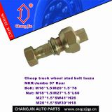 Wheel hub stud bolt and nut for Isuzu NKR Rear