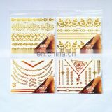 Gold foil temporary tattoo body tattoo sticker