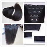 Top Quality 120g / 160g / 220g / 260g cheap 100% human hair double drawn clip in hair extension