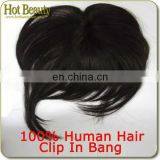 5A Top Quality 100% Virgin Sliky Bang Clip On Bangs Eurasian Closure
