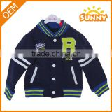 2015 autumn baseball baby girl's clothing baby boys coat