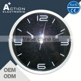 Cost Effective Grab Your Own Design Quality Assured Metal Wall Clock With Crystal