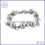Polishing Round Ball Beads Links Stainless Steel Bracelet Jewelry