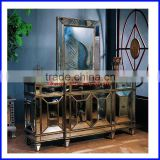 Antique Buffet Living Room Wall Cabinets Furniture with Mirror Hot Sale S-0863
