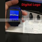 Promotional Digital logo Bluetooth Smart Wrist Watch Phone Mate For IOS Android iPhone Samsung HTC Huawei