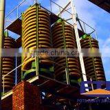 High efficiency ore beneficiation machine--gravity spiral construction chute