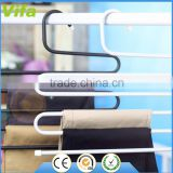 Multi-Purpose Metal Magic Pants Hanger Closet Hangers Space Saver Storage Rack for Hanging Jeans Scarf Tie