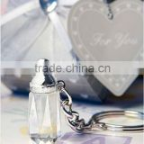 Baby shower party favor and gifts crystal feeding bottle design Key chain