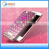 3D agate stones diamond electroplating tpu case for iphone 6,for iphone 6 Plating TPU Case 2016