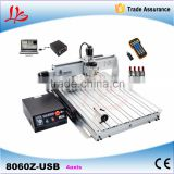 LY 8060 4axis CNC Router machine 2.2KW USB port wth mach3 handwheel