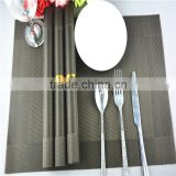 Dark black with dark silver pvc mat table decoration handmade frame dining mat 45*30cm
