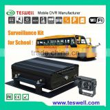 4 channel car mobile dvr for school pupils monitoring with realtime video school bus mdvr