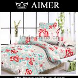Trade assurance peach design of king size 100%cotton 144tc Printed fabric for bedding cover and bed sheet