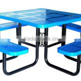 Picnic Table, Perforated Picnic Table, Square, 46inch, Blue, Green, etc.
