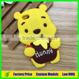 Yellow bear silicone mobile 3d phone case for LG G3 mini D728 cell phone back cover case