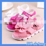 HOGIFT New arrival summer pink bow-knot diamond sandals with soft sole for child and baby girl
