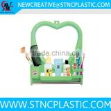 lovely heart shape one way plastic cosmetic wall mirrors