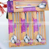 Korean chopsticks with Stainless Steel 304 material and flat shape and nice design