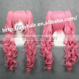 alibaba express wholesale china manufacturer 2014 Brazilian World Cup wig synthetic party wig colorful cartoon wig with fringe
