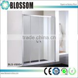 Aluminium profile bathroom shower cubicle sliding glass shower doors                                                                         Quality Choice