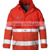 High visibility waterproof and breathable gore tex jacket with EN343