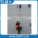 CE Standard Aluminium Ladder Two-Story Fire Escape Ladder Rescue Ladder With Anti-Slip Rungs
