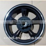 13 inch motorcycle aluminum alloy wheel, rear wheel with silver edge