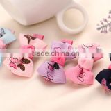 Butterfly Printed Ribbon Bow Hairclips,lavender wholesale hair accessories for kids                                                                                                         Supplier's Choice