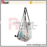 New recycle polyester strawberry shape cheap custom plastic folded nylon drawstring bags no minimum