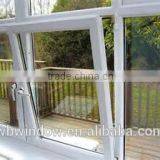 Cheap single clear glass PVC/UPVC tilt&turn home windows,white tilt&turn windows,PVC/UPVC windows and doors