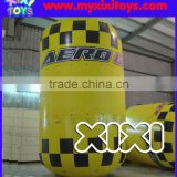 Inflatable cylinder buoys for swimming event, inflatable floating column buoys for advertising