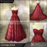 New arrival product wholesale Beautiful Fashion sweetheart beaded sash bridesmaid formal gown
