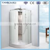 4mm/5mm clear glass,chromed aluminum profile ,stable shower enclosure/curved shower cabin/shower room