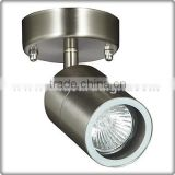UL CUL Listed Small Brushed Nickel Hotel Metal Wall Light With GU10 Halogen Bulb W30088