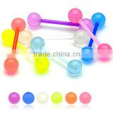 UV Acrylic Glow in the Dark Tongue Barbell Body Piercing Jewelry
