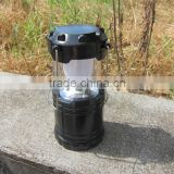 6 Led collapsible camping lantern, folding led camping tent lights, hot sale led lantern, high power plastic led camping lantern
