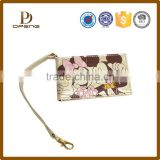 Cartoon image printed latest design ladeis custom leather purse with strap