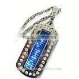 2015 Cool gifts LED metal name badge electronic digital programmable led keychain( direct manufacturer)