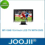 15.4 inch LCD TV with DVD player Support MP3/CD/USB/SD Function, Full HD LCD TV / television player
