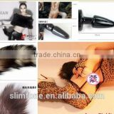 M size fox Horse tail metal anal butt plug for wholesale factory supplier